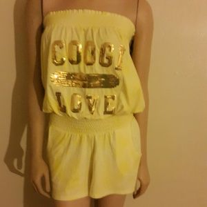 NWT yellow and gold COOGI outfit